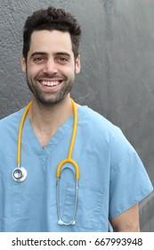 Vertical composition of a nurse - Stock image