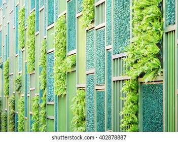 Vertical Decoration Garden On The Wall, Texture Background