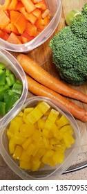 vertical food preparation healthy fresh ingredients vegetable