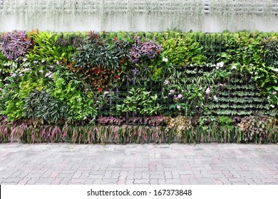 vertical garden floral