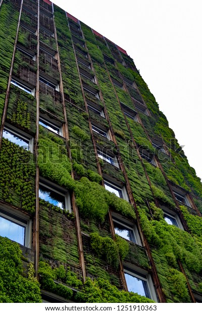 Vertical Garden Wall Highrise Office Building Stock Photo Edit