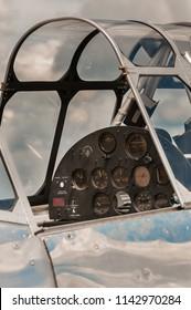 Vertical Historic Plane Cockpit Under Restoration