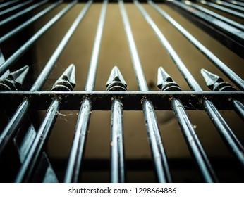 Vertical iron bars