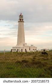 A vertical of the Lighthouse of Cabo de Santa Maria, in La Paloma, Rocha, Uruguay