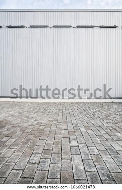 Vertical Metal Siding Metallic Sheet On Stock Photo (Edit