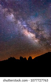Vertical Milky Way image From Lone PIne, California, USA.