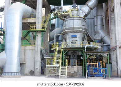 Vertical Mill in cement factory.