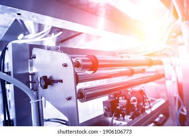 Vertikale MehrKopf-Wieger-Verpackungsmaschinen, Snacks und Chips in einer Fabrik
