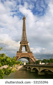 Vertical oriented photo of Eiffel Tower in Paris, France.