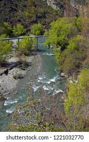 Vertical Panorama of the Arrow River, and Gorge, Arrowtown, New Zealand