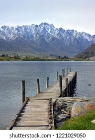 Vertical Panorama of Lake Wakatipu & The Remarkables, Queenstown New Zealand