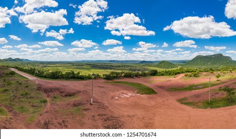 Vertical panorama, photographed from the Cerro Pero in Paraguay. - Shutterstock ID 1254701674