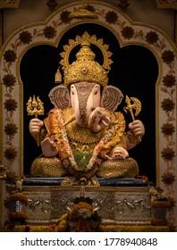 Vertical photo of Ganesha Idol from Pune, India