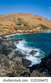 Vertical photo of Punta Montana Amarilla, Tenerife islans, Spain.