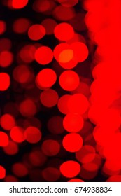 Vertical Red Abstract Bokeh Christmas Lights