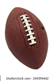 Vertical Shot American Football Isolated On White Background