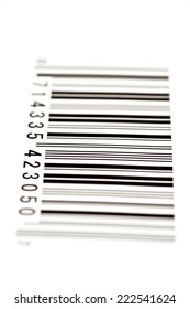 Vertical Shot Of Bar Code With Shallow Depth Of Field/ Bar Code/ Focus On Front