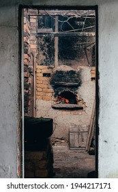 A vertical shot of the kitchen of a typical Latin American country house