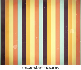 Vertical stripes color background in vintage or retro style with stains and damage.