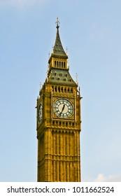 vertical view of big ben london uk