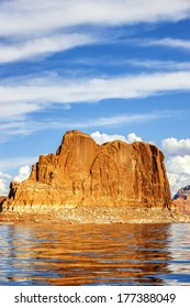 Vertical view on famous lake Powell, Page, USA