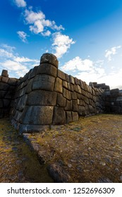 Vertical View of Sacsayhuaman ruins outside of Cusco, Peru