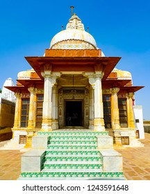 Vertical view of a temple entrance in Bikaner, Rajasthan, India