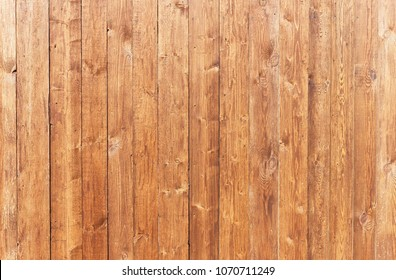 Vertical vintage wooden fence. Empty background of timbered panels. Surface texture of a protective ligneous structure.