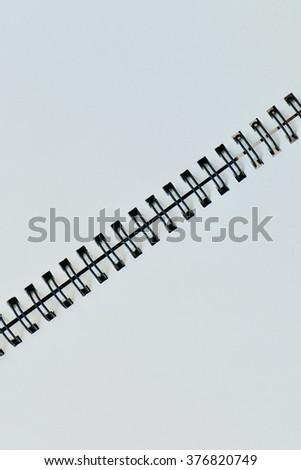 vertical white page diagonal black binder stock photo edit now