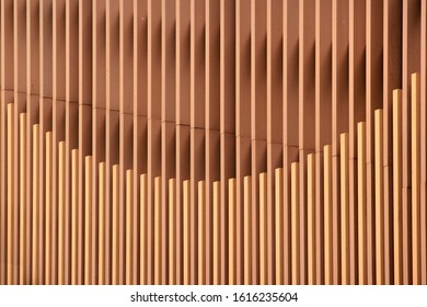 Vertical wooden battens, interior walls decoration