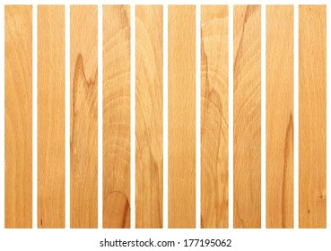 vertical wooden boards  isolated on white for floor design