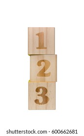 Vertically Stacked Wooden Numbers Blocks (with clipping path)