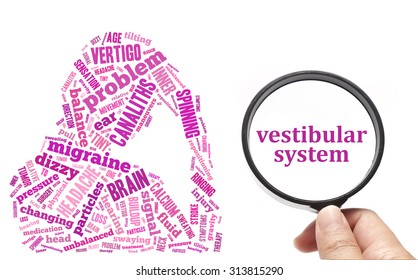 Vertigo, health conceptual focusing on Vestibular System
