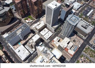 A Vertigo View of Downtown Phoenix, Arizona