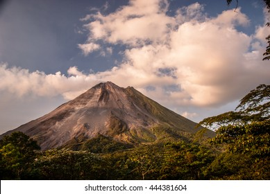 The very active Arenal Volcano in Costa Rica.