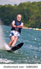 A very active senior still ski's at age 62