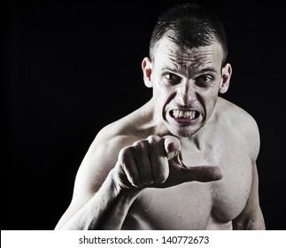 Very aggressive man