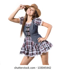 very beautiful country and western girl in line dance theme