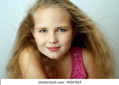 Very beautiful eight years old girl