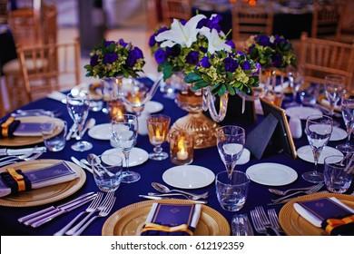 very beautiful festive table decoration