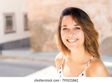 very beautiful girl has been photographed on walk