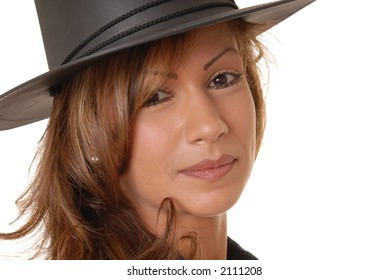 Very Beautiful and sexy young girl wearing a hat
