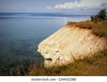 Very beautiful, warm summer day on the north coast of the island Saaremaa in Estonia.