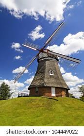 "Very beautiful windmill in the village of ""Bad Bederkesa"", Germany"