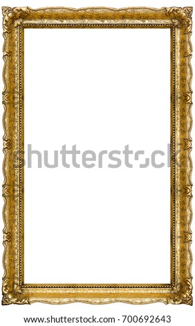 Very Big Old Gold Picture Frame Stock Photo (Edit Now) 700692643 ...