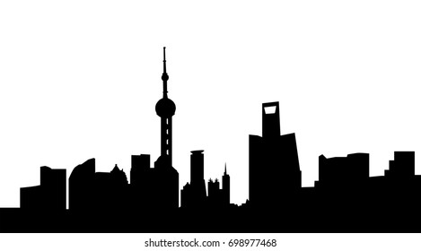 Johannesburg city skyline silhouette vector illustration stock very big size shanghai city skyline silhouette thecheapjerseys Image collections