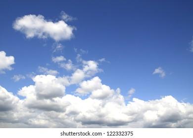 very blue sky nature background