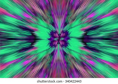 very bright and motley abstraction like explosion