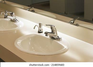 Public bathroom sink images stock photos vectors for Public bathroom sink