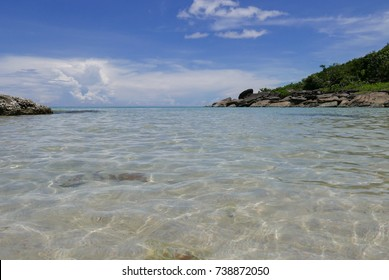 A very clear sea of Kud island in Thailand.